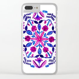 Growing Garden Mandala Clear iPhone Case