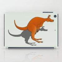 kangaroo iPad Cases featuring Kangaroo by mailboxdisco