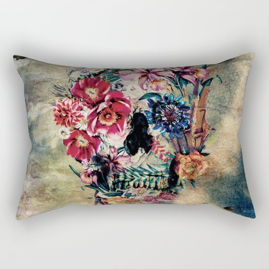 Skull on old grunge II Rectangular Pillow
