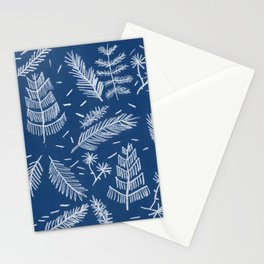 White Pine on Speckled Blue Stationery Cards