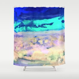 Icey Night Shower Curtain
