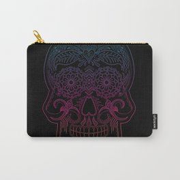 Color Me Day of the Dead Skull - Rainbow Carry-All Pouch