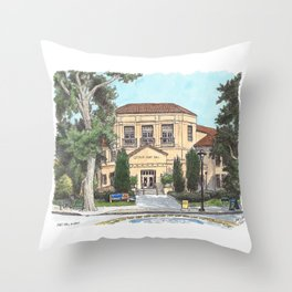 Hart Hall UC Davis Throw Pillow
