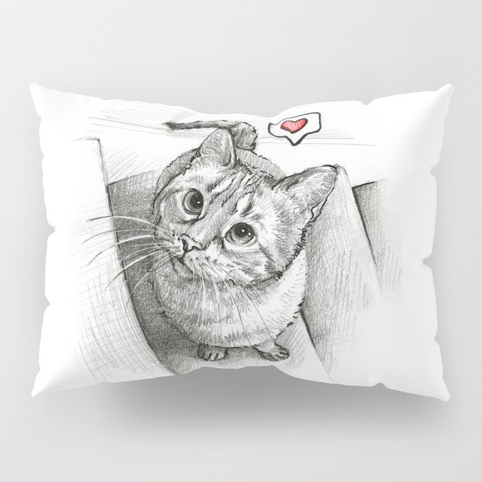 Cute Kitty Cat - Love Me Pillow Sham