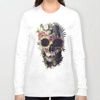 garden Long Sleeve T-shirts featuring Garden Skull by Ali GULEC