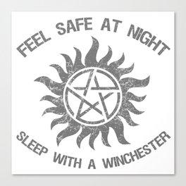 SPN Sleep With A Winchester Canvas Print
