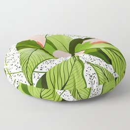 Blushing Leaves #illustration #painting Floor Pillow