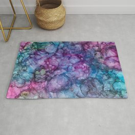 Abstract Purple and Blue Rug