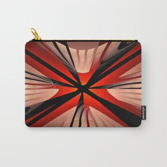 Winter abstract with red Carry-All Pouch