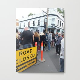 Road Closed Metal Print