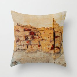 Stone wall Abstrackt hole Throw Pillow