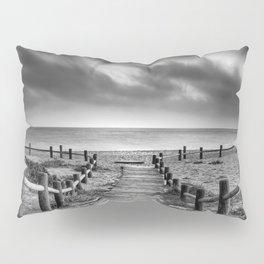 """To the beach...."" BW. At sunset Pillow Sham"