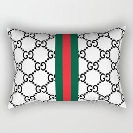 goyard guci white Rectangular Pillow