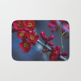Red Flowering Quince Bath Mat