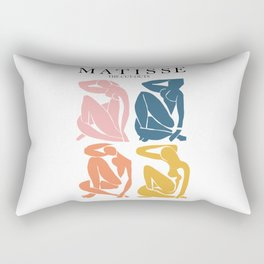 Abstract woman pastel color matisse woman artwork the cut outs Rectangular Pillow