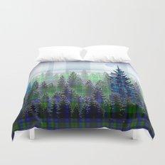 Plaid Forest Duvet Cover