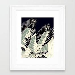 Oriental Palm Riddle Vintage Framed Art Print