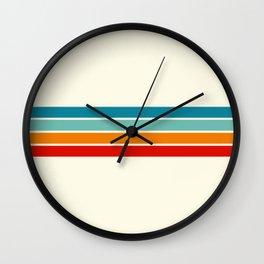 Colored Retro Stripes Wall Clock
