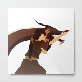 Avatar The Last Airbender Minimalist Zuko Metal Print