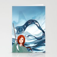 saga Stationery Cards featuring The Banner Saga by Tori