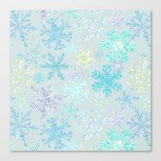 icy snowflakes Canvas Print