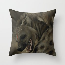 Necrophagy: Spotted Hyena Throw Pillow