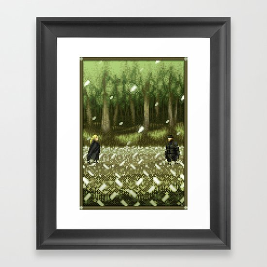 Pixel Art series 11 : THE BOSS Framed Art Print