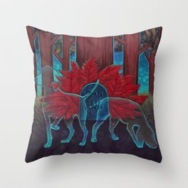 Where the Red Fern Grows Throw Pillow