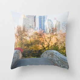 Central Park as the City Wakes Up Throw Pillow