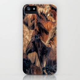 Wild horses. iPhone Case