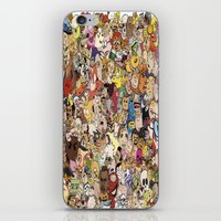 cartoon iPhone & iPod Skins featuring Cartoon Collage by Myles Hunt
