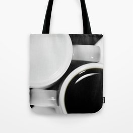 #Yin & #Yang, #coffee and #milk in #Cups #homedecors Tote Bag