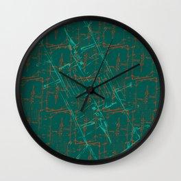 Rimini Card of Aquamarine Wall Clock