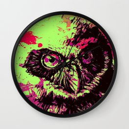 Rainbow Spectacled Owl Wall Clock