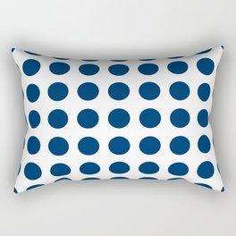 Dark blue and white polka dots pattern Rectangular Pillow