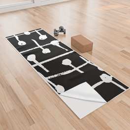 Lines And Dots Yoga Towel