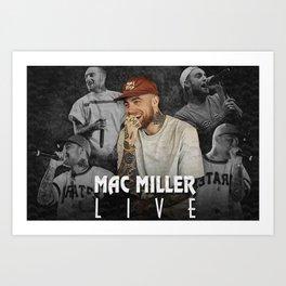 Mac Miller Rapper Live American Star Canvas Unique Design Wall Art Print Hand Made Ready to Hang Custom Design Art Print
