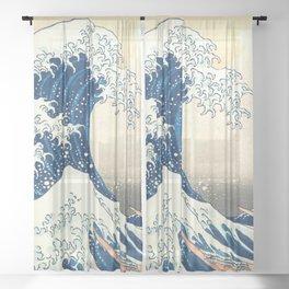 "Katsushika Hokusai ""The Great Wave off Kanagawa"" Sheer Curtain"