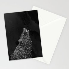 Midnight Wolf Stationery Cards