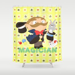 Magician Shower Curtain