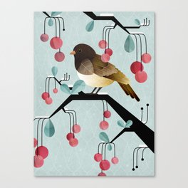 Bird, Watching Canvas Print