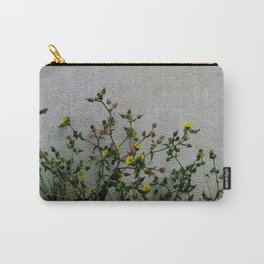 Minimal flora - yellow daisies wild flowers Carry-All Pouch