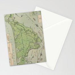 Vintage Map of Marthas Vineyard (1913) Stationery Cards