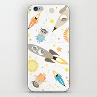 planet of the apes iPhone & iPod Skins featuring Apes in space by Heleen van Buul