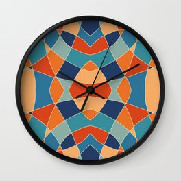 Retro Colored Abstract Butterfly Wall Clock