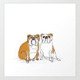 two bullies  Art Print