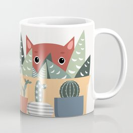 Cat and succulents No1 Coffee Mug