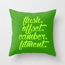 flush offset camber fitment v2 HQvector Throw Pillow
