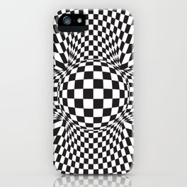 abstract squared pattern iPhone Case