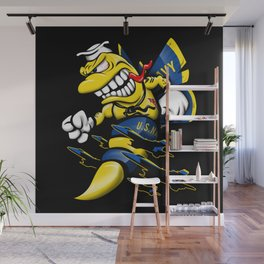 Cartoon Blue Angels F/A-18 Hornet Wall Mural